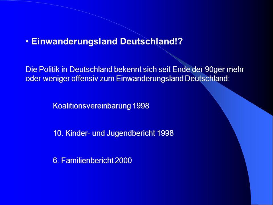 Einwanderungsland Deutschland!