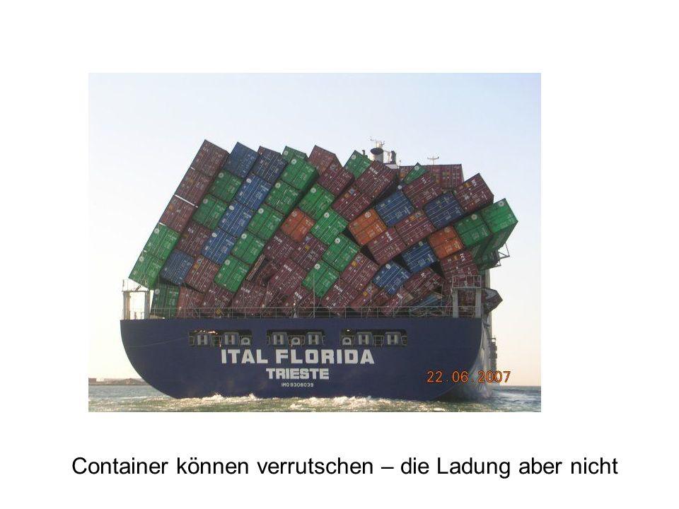 Container können verrutschen – die Ladung aber nicht