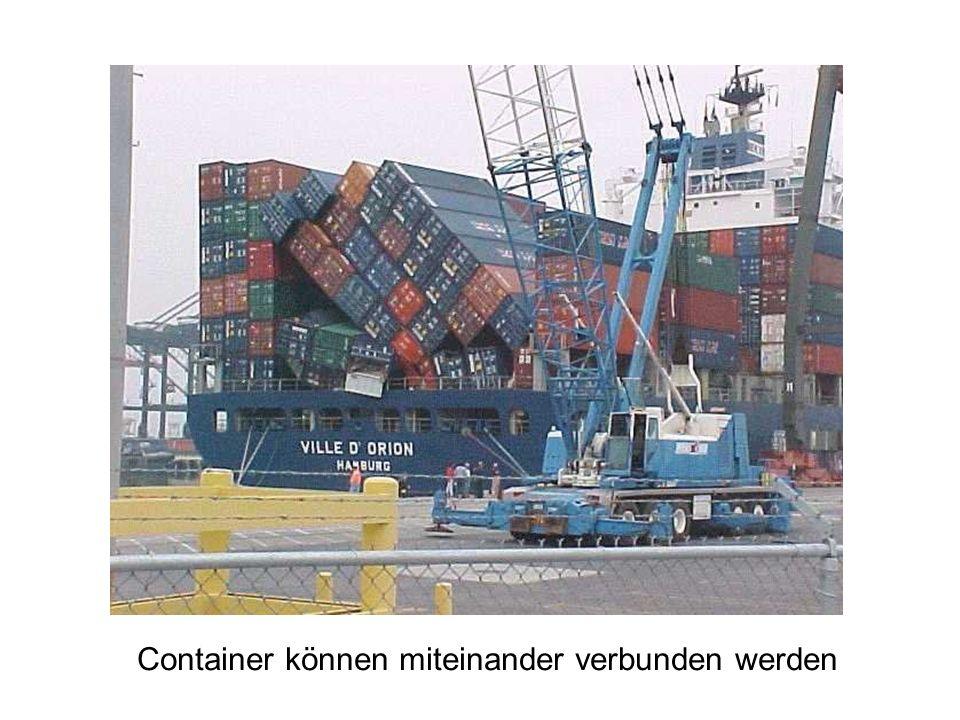 Container können miteinander verbunden werden