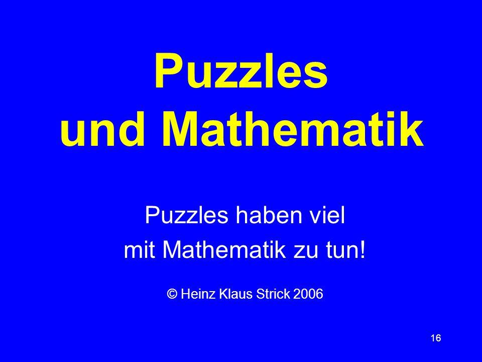 Puzzles und Mathematik