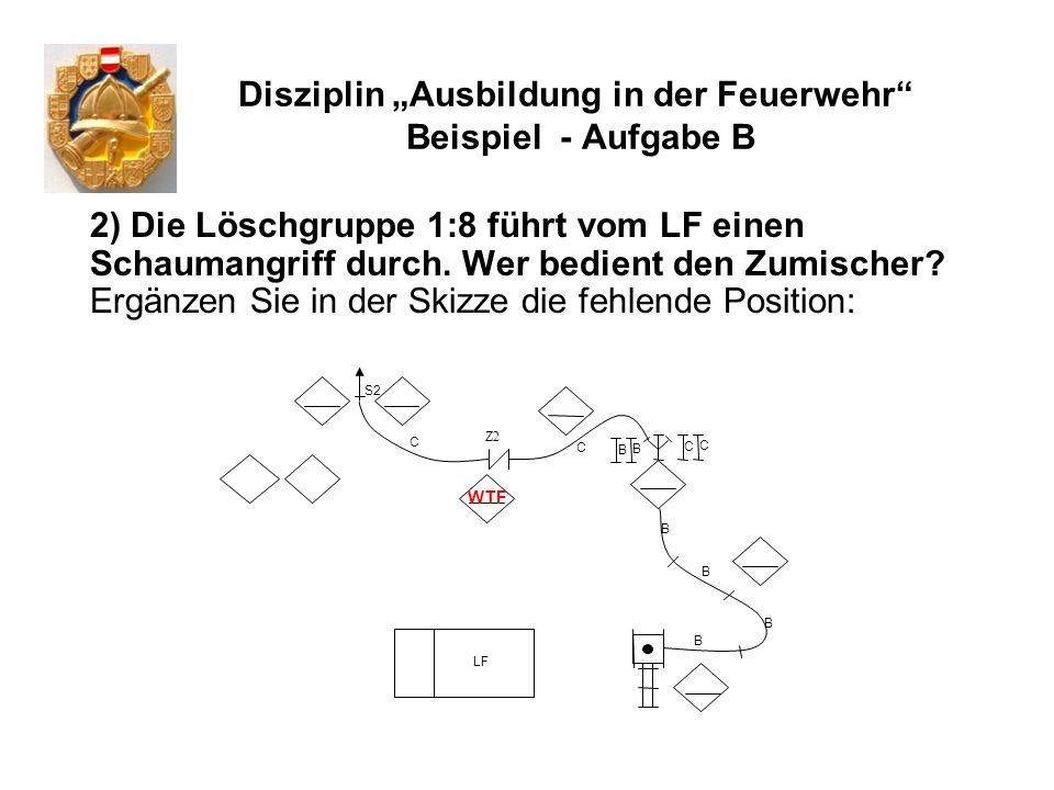"""Disziplin """"Ausbildung in der Feuerwehr Beispiel - Aufgabe B"""