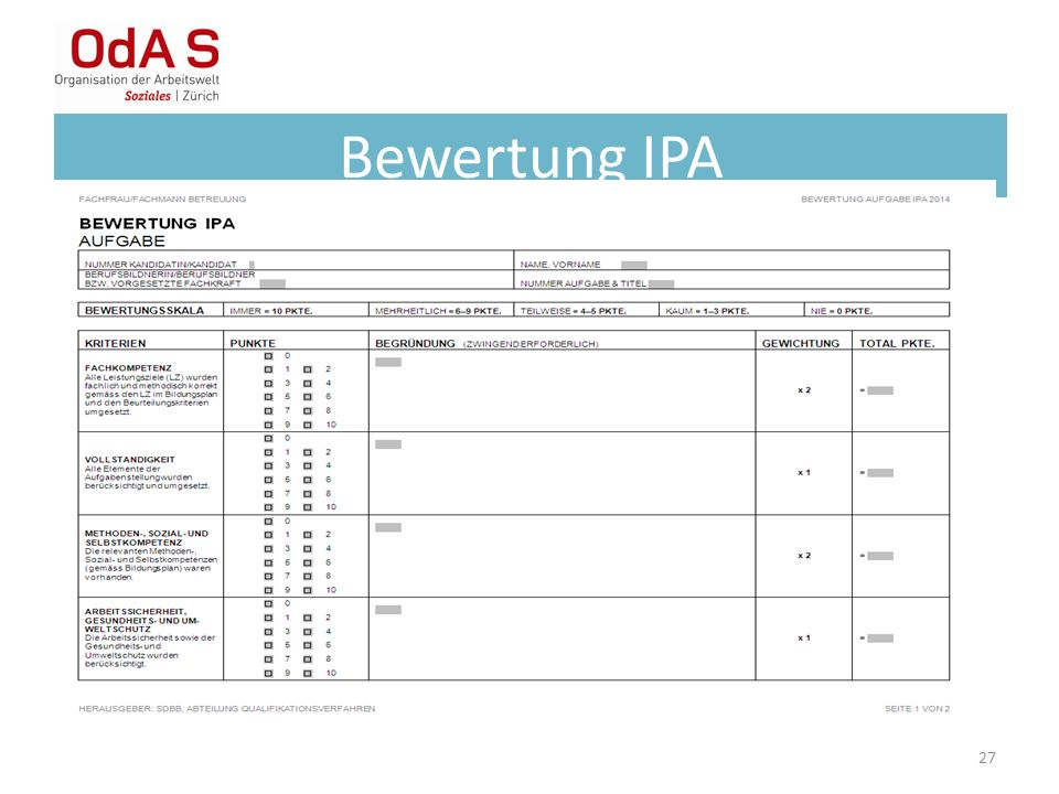 Bewertung IPA