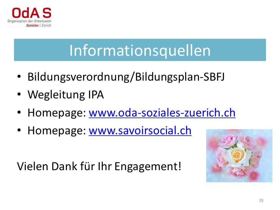 Informationsquellen Bildungsverordnung/Bildungsplan-SBFJ