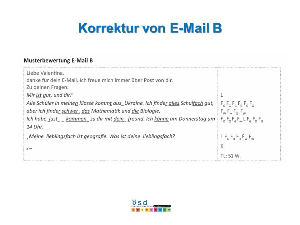 Korrektur von E-Mail B
