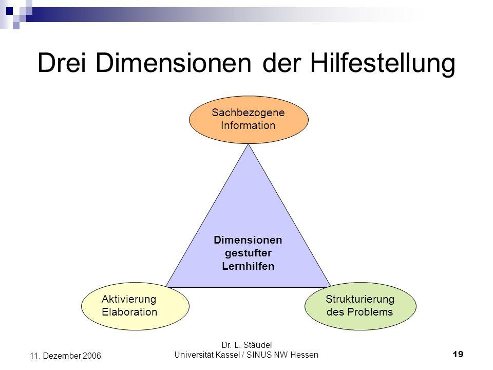 Drei Dimensionen der Hilfestellung