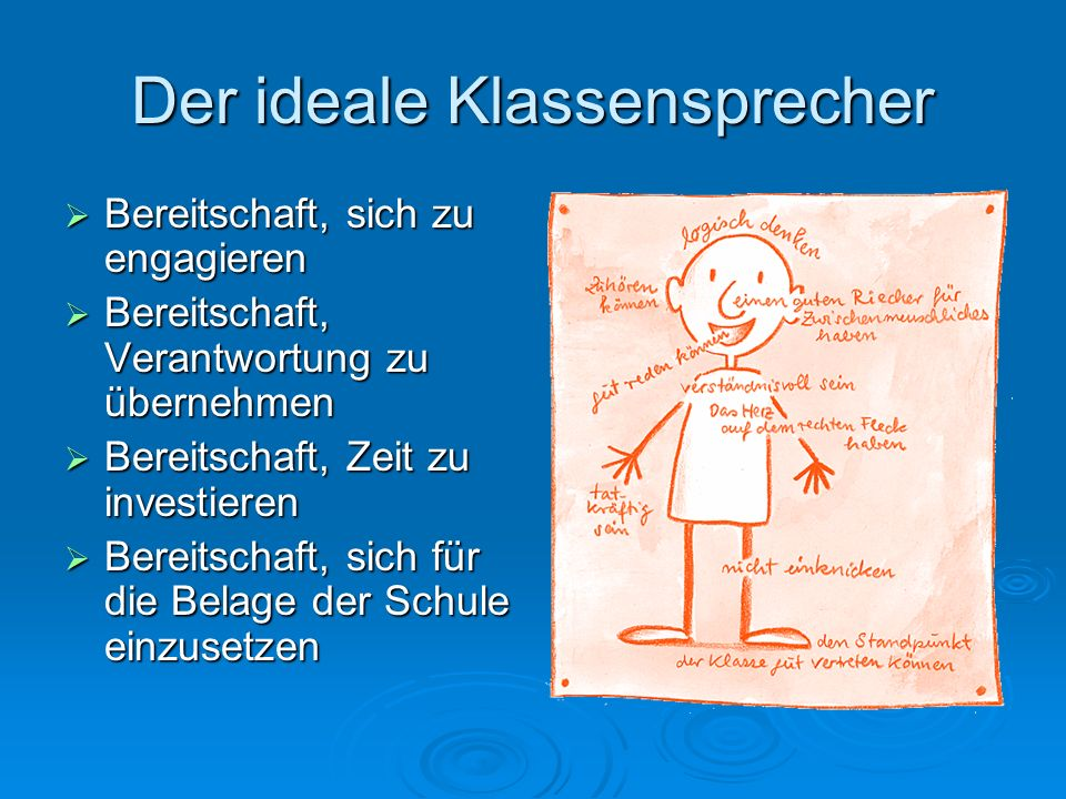 Der ideale Klassensprecher