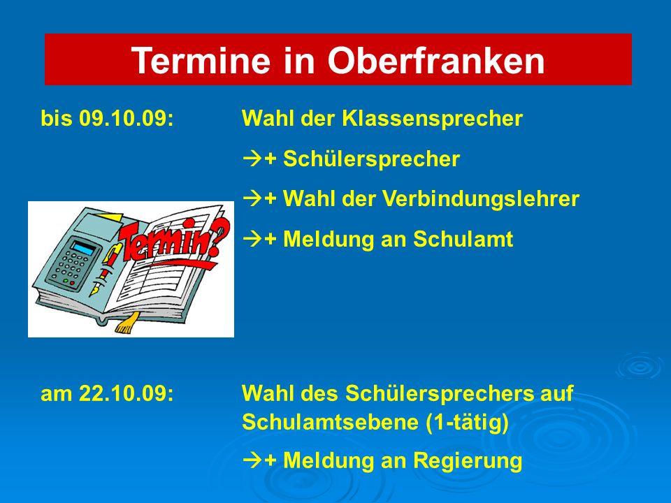 Termine in Oberfranken