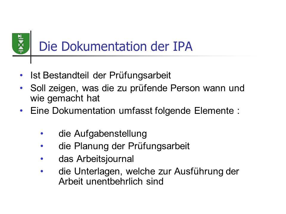 Die Dokumentation der IPA