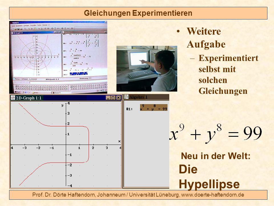 Gleichungen Experimentieren