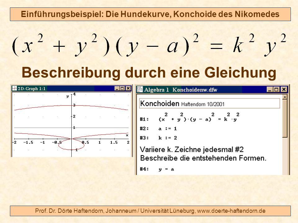 Beschreibung durch eine Gleichung