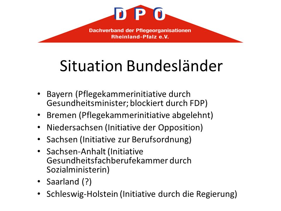 Situation Bundesländer