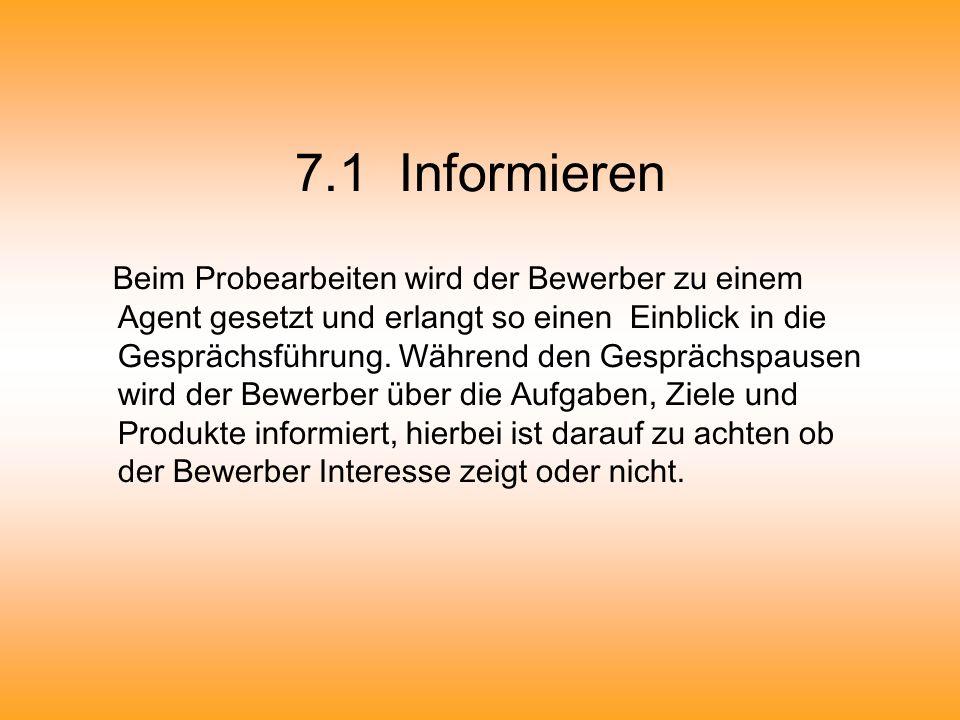 7.1 Informieren