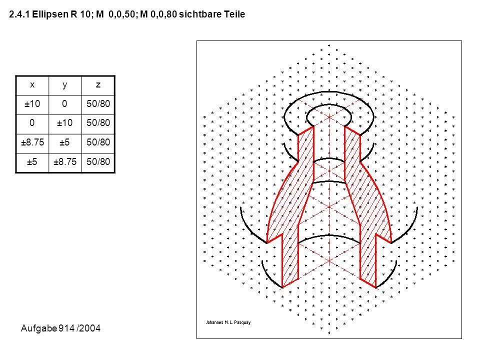 2.4.1 Ellipsen R 10; M 0,0,50; M 0,0,80 sichtbare Teile
