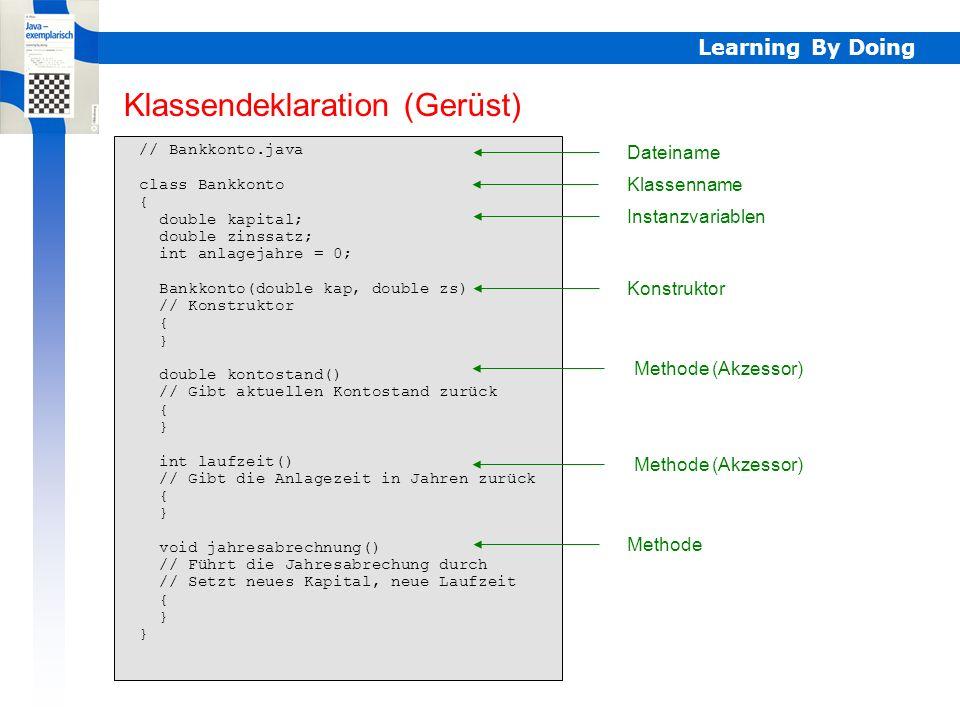 Klassendeklaration (Gerüst)
