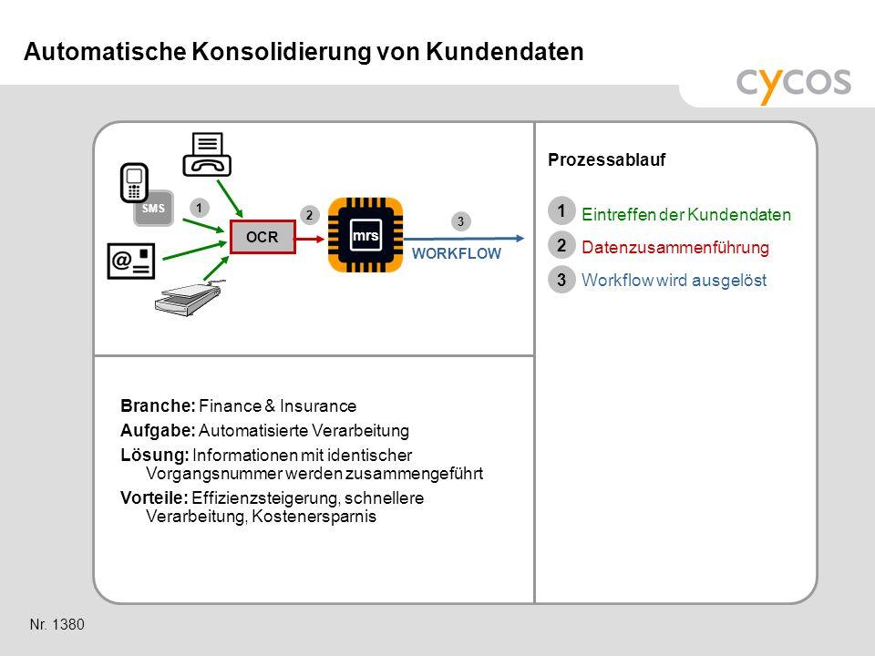 Automatische Konsolidierung von Kundendaten