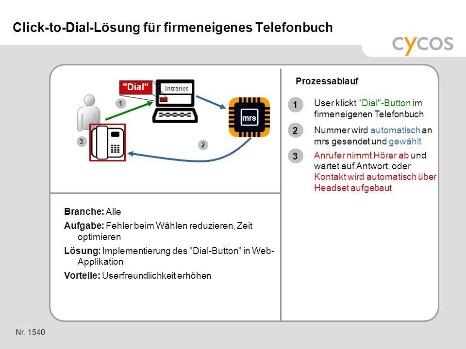 Click-to-Dial-Lösung für firmeneigenes Telefonbuch