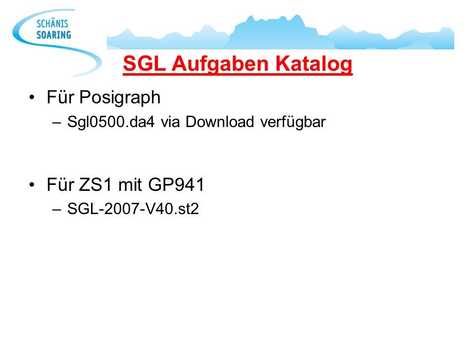 SGL Aufgaben Katalog Für Posigraph Für ZS1 mit GP941