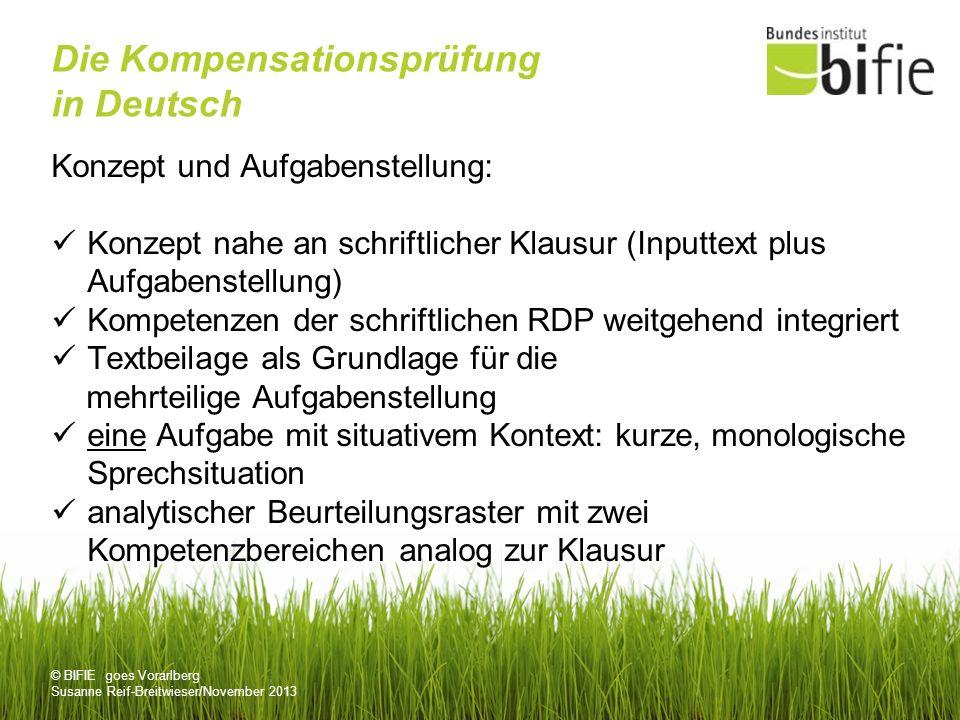 Die Kompensationsprüfung in Deutsch