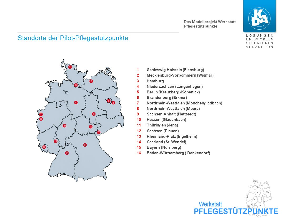 "» » » Das Modellprojekt ""Werkstatt Pflegestützpunkt"