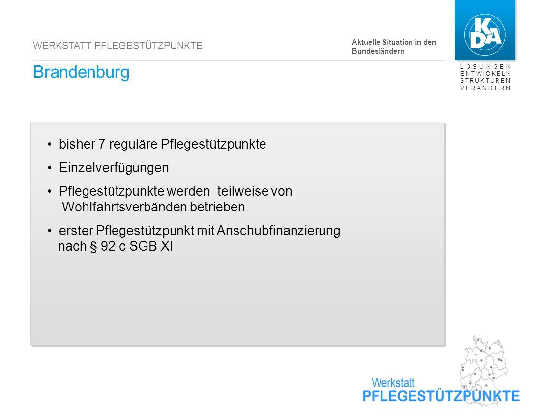 Berlin bisher 24 reguläre Pflegestützpunkte