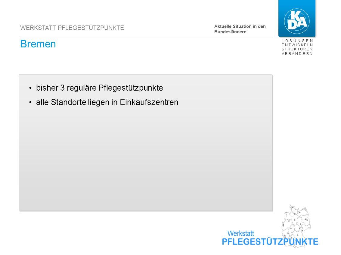 Brandenburg bisher 7 reguläre Pflegestützpunkte Einzelverfügungen
