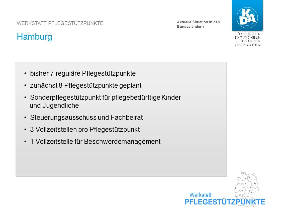 Bremen bisher 3 reguläre Pflegestützpunkte