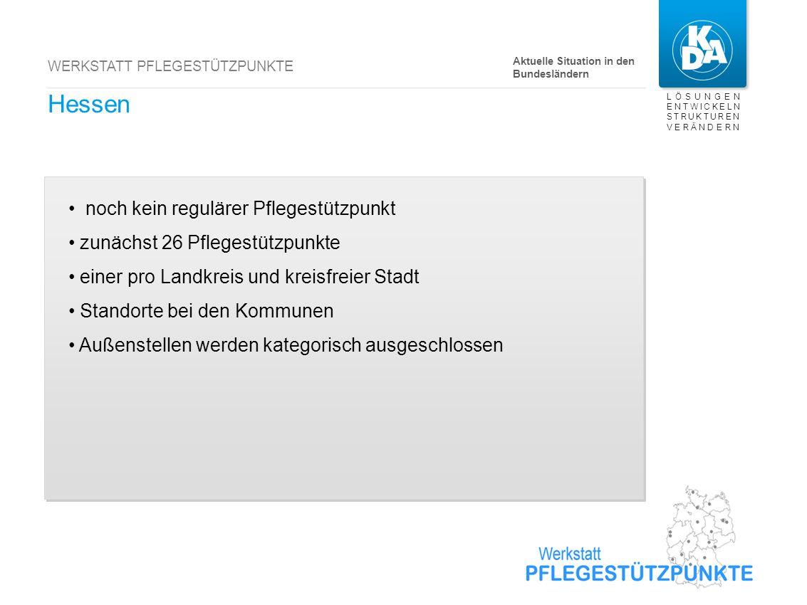 Hamburg bisher 7 reguläre Pflegestützpunkte