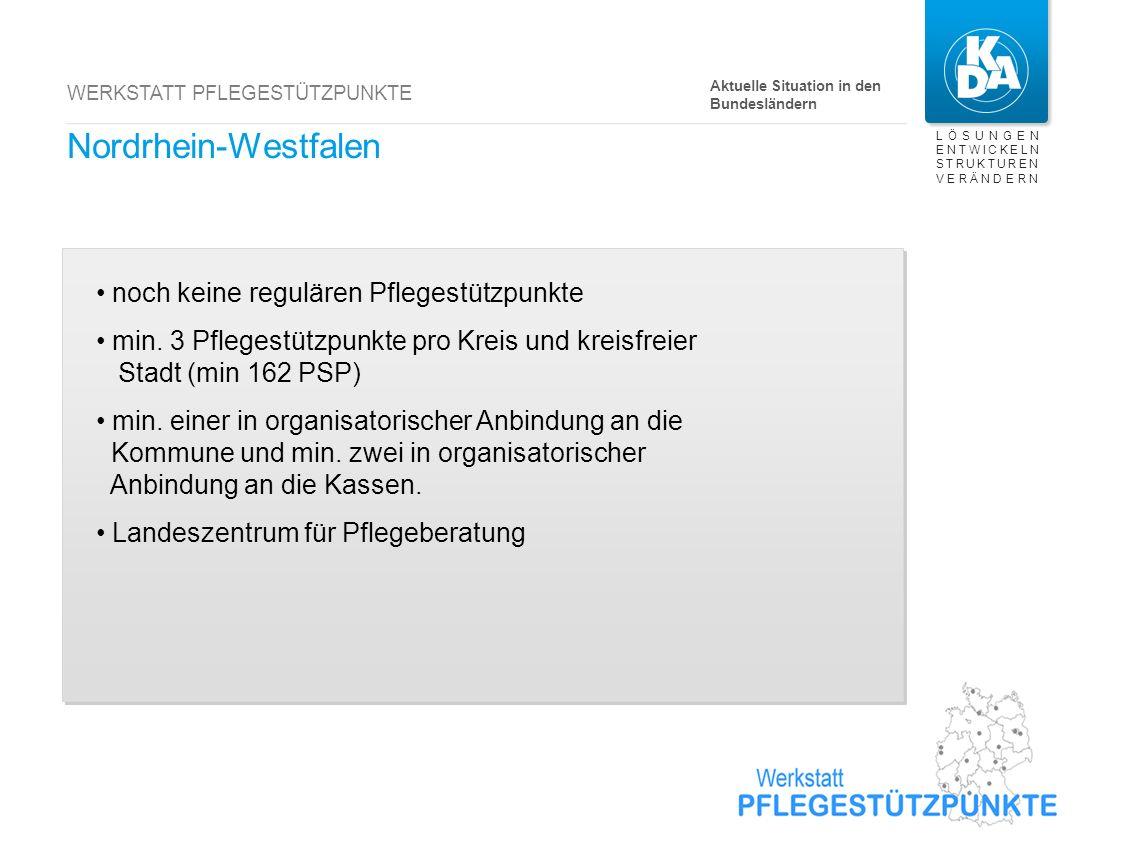 Niedersachsen noch kein regulärer Pflegestützpunkt