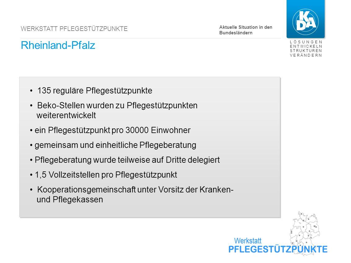 Nordrhein-Westfalen noch keine regulären Pflegestützpunkte