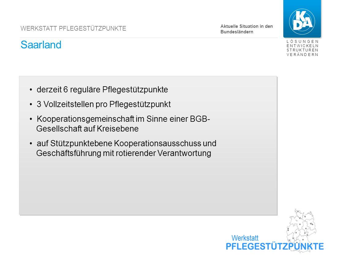Rheinland-Pfalz 135 reguläre Pflegestützpunkte