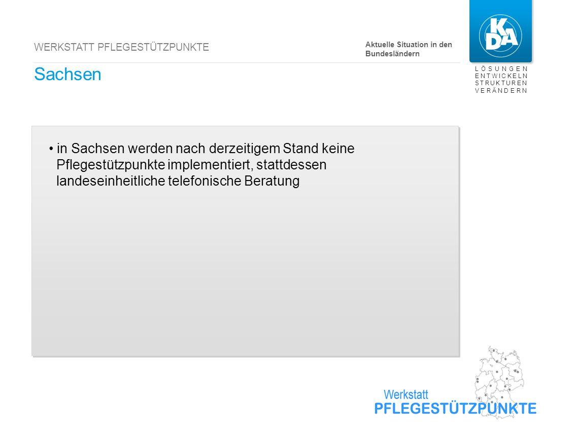 Saarland derzeit 6 reguläre Pflegestützpunkte