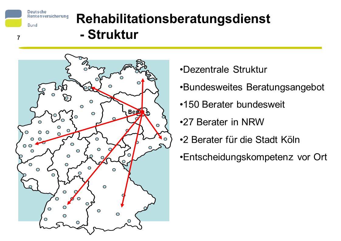 Rehabilitationsberatungsdienst - Struktur