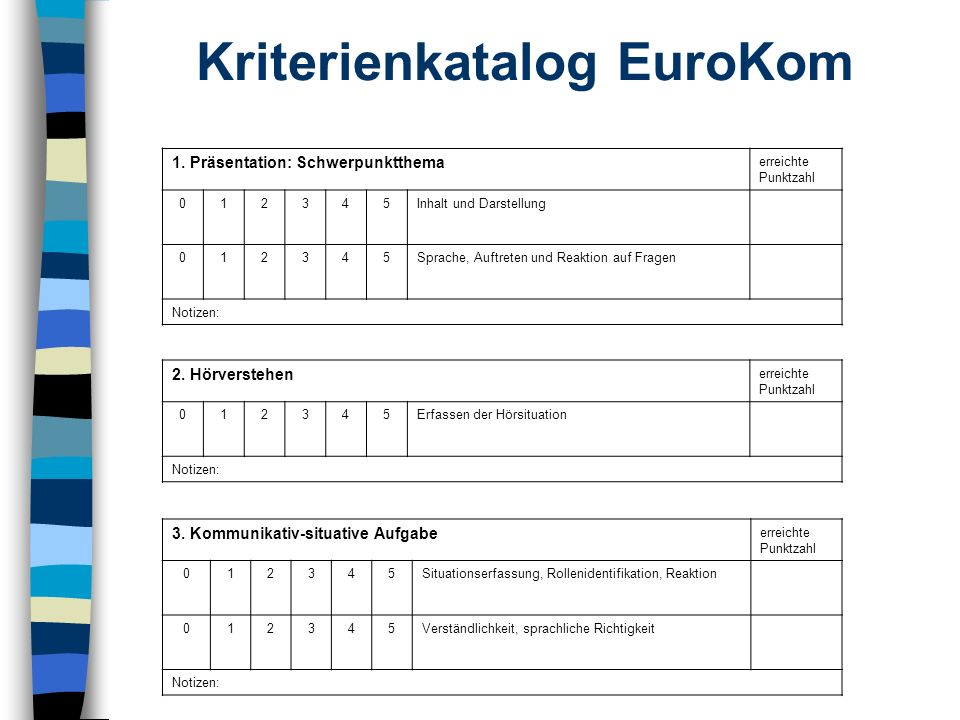 Kriterienkatalog EuroKom