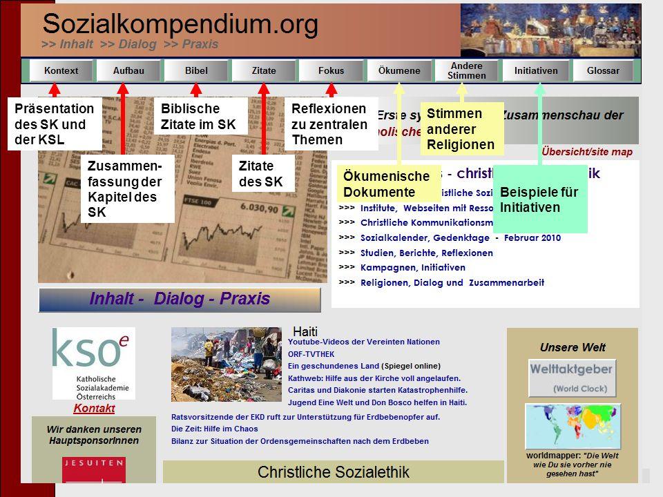Präsentation des SK und der KSL Biblische Zitate im SK