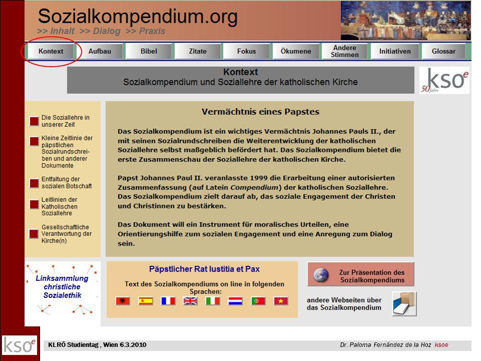 KLRÖ Studientag , Wien 6.3.2010 Dr. Paloma Fernández de la Hoz ksoe