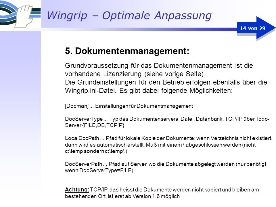 5. Dokumentenmanagement: