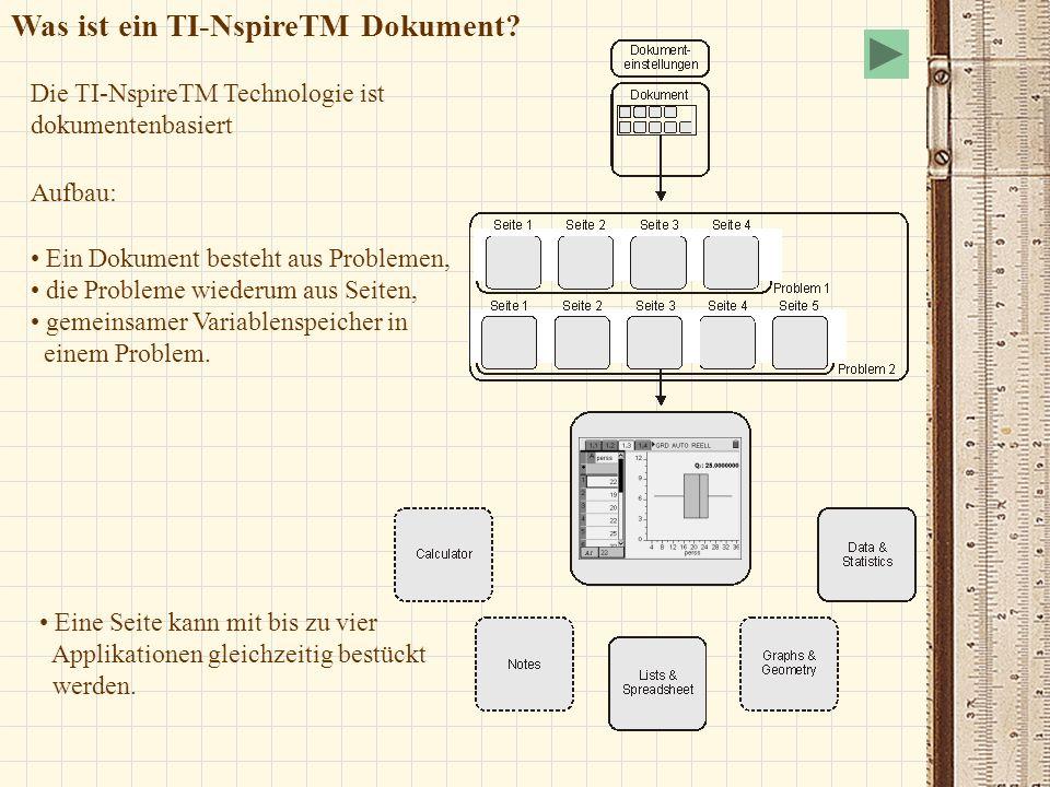 Was ist ein TI-NspireTM Dokument
