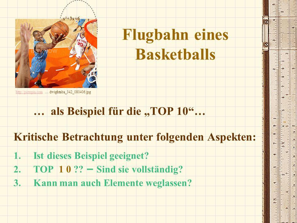 Flugbahn eines Basketballs