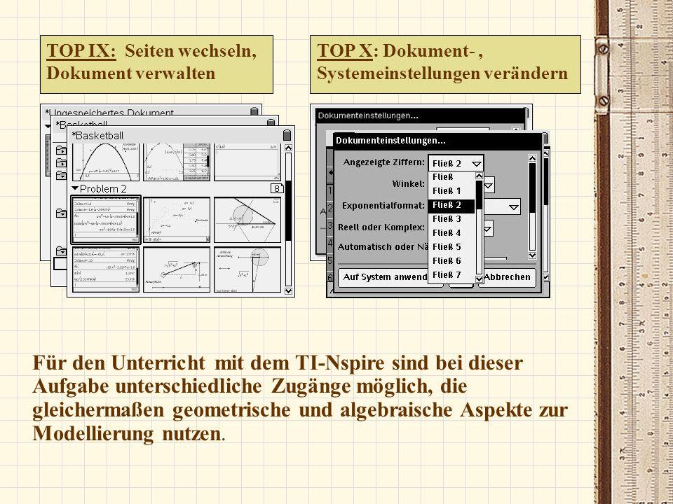 TOP IX: Seiten wechseln, Dokument verwalten