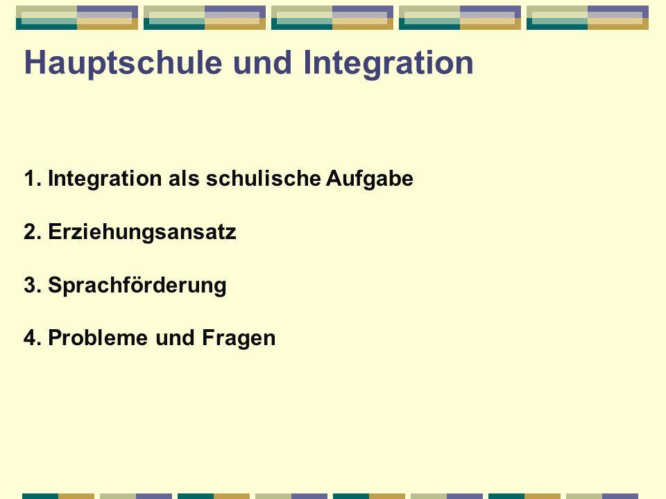 Hauptschule und Integration