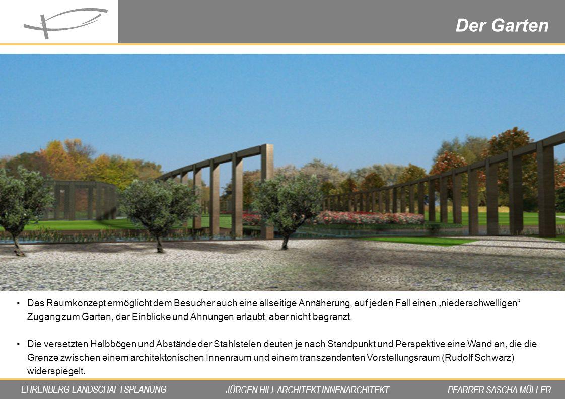 """Der Garten Impression. Das Raumkonzept ermöglicht dem Besucher auch eine allseitige Annäherung, auf jeden Fall einen """"niederschwelligen"""