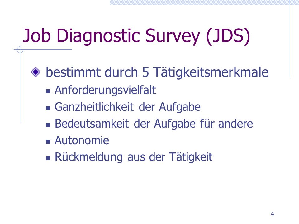 Job Diagnostic Survey (JDS)