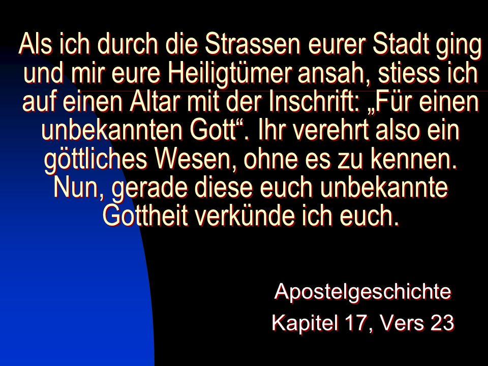 Apostelgeschichte Kapitel 17, Vers 23
