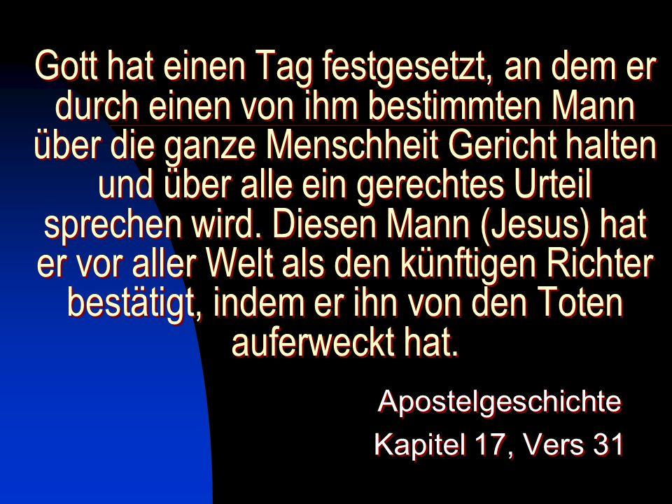 Apostelgeschichte Kapitel 17, Vers 31