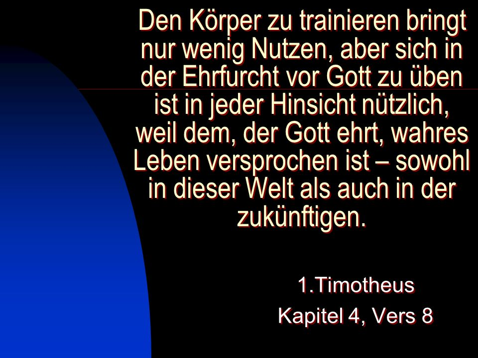 1.Timotheus Kapitel 4, Vers 8