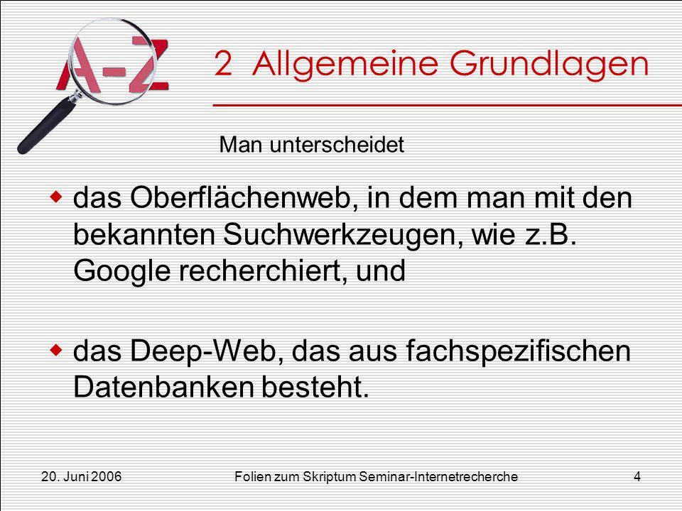 2 Allgemeine Grundlagen