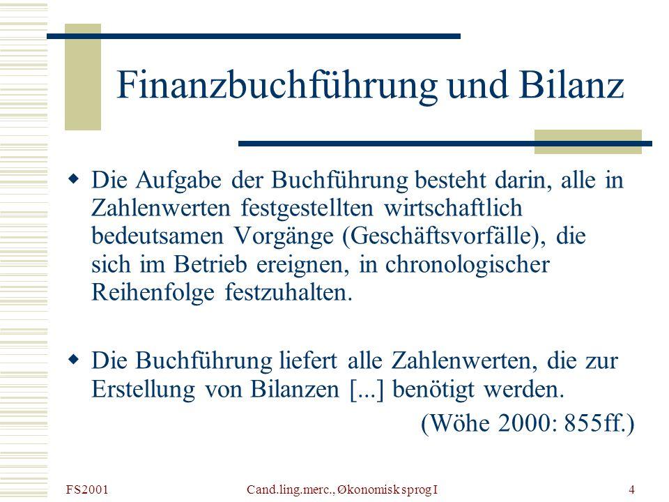 Finanzbuchführung und Bilanz