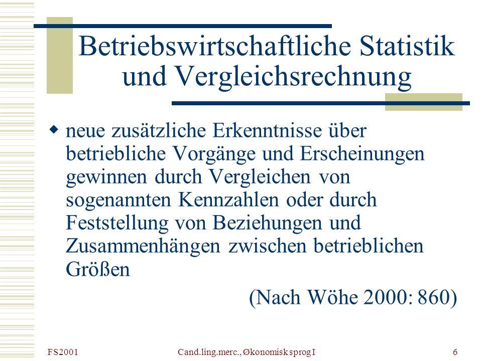 Betriebswirtschaftliche Statistik und Vergleichsrechnung
