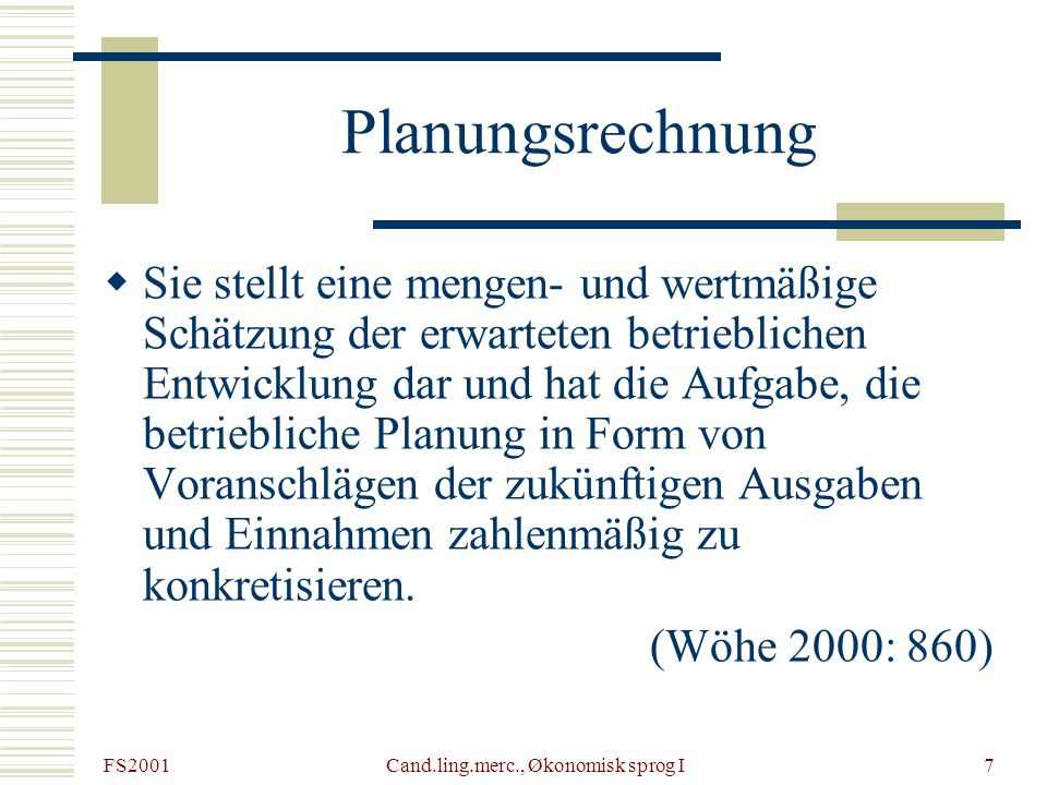 Cand.ling.merc., Økonomisk sprog I