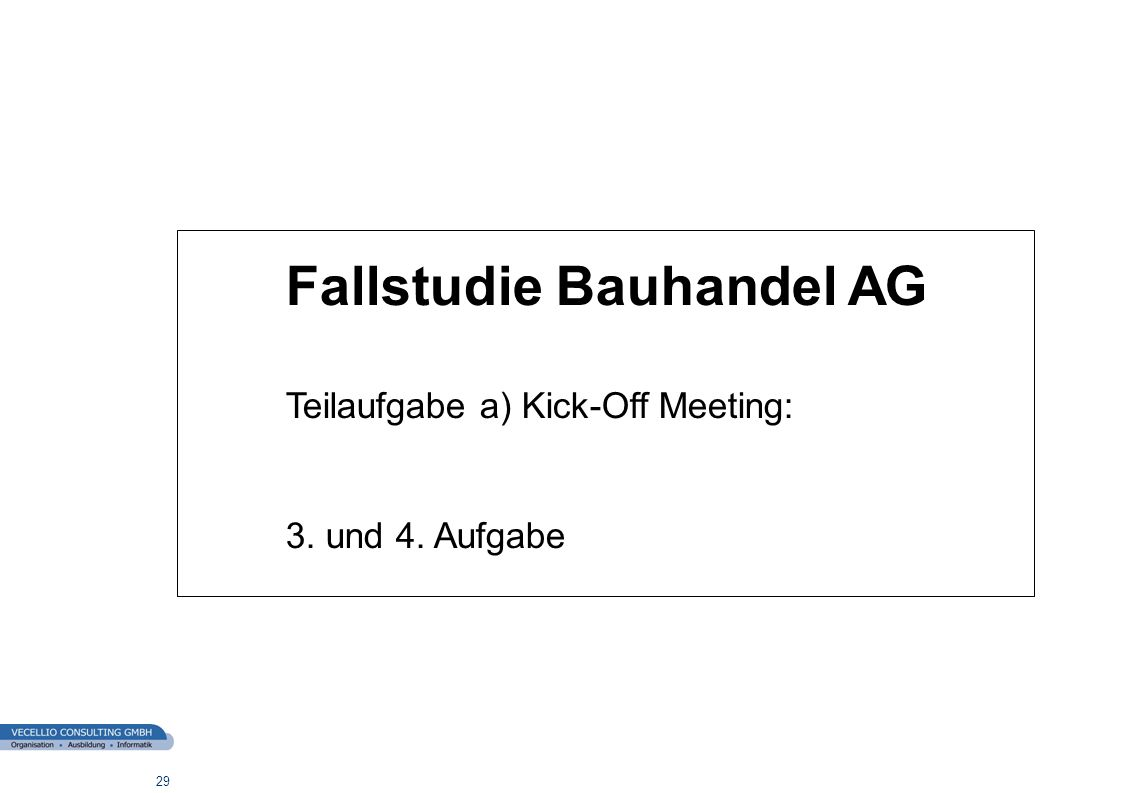Fallstudie Bauhandel AG